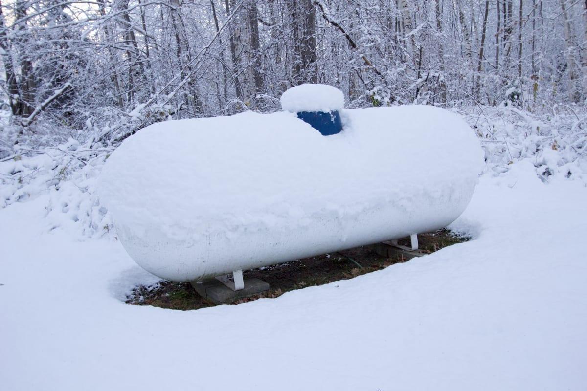 Franger Gas Propane Winter Tank Snow Preparation
