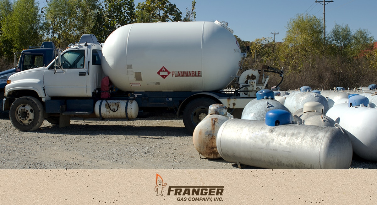 Franger Gas, Remote monitoring and automatic refills of propane tanks for commercial and residential customers
